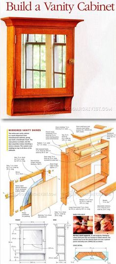 Vanity Cabinet Plans - Furniture Plans and Projects   WoodArchivist.com