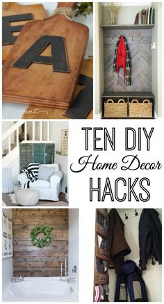 These are great. Simple tutorials for 10 Home Decor Hacks that will improve the appearance of your home.