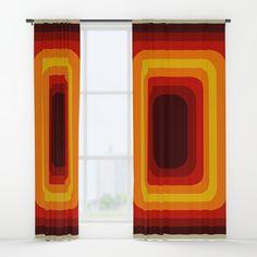 Retro Design 01 Window Curtains
