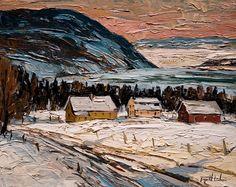 Vue sur la vallee, Baie St. Paul, Charlevoix, by Raynald Leclerc