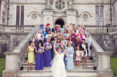 Lulworth Castle wedding photographers throwing bouquet. Photography by one thousand words wedding photographers