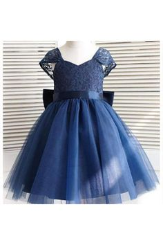 Sale Light A-Line Party Dress, Dark Blue Wedding Dresses, Blue Party Dress, Lace Wedding Dresses Toddler Flower Girl Dresses, Tulle Flower Girl, Ball Dresses, Ball Gowns, Prom Dresses, Bride Dresses, Bridesmaid Dresses, Dress With Bow, The Dress
