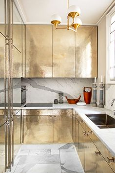 Hammered Metal Cabinets - Design Ideas To Steal From The French - Photos