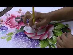Mulher.com 29/05/2014 - Pintura de tecido rosas hortencias por Ana Laura Rodrigues Parte 2