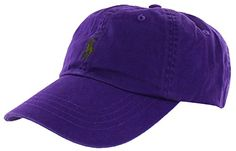 06abbb930eb Polo Ralph Lauren Men s Unisex Pony Logo Baseball Hat Cap Dark Purple Polo  Ralph Lauren (