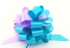 Turquoise and Lavender Pull Bows - 6' Wide, Set of 6, Easter Decorations *** To view further for this item, visit the image link.