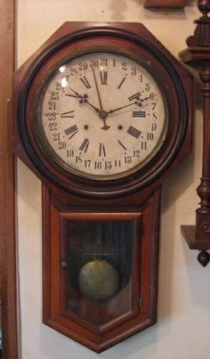 アンティーク日本製柱時計日付 Watch wall clock ¥58000yen 〆04月28日