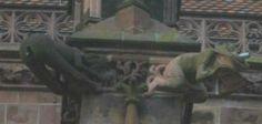 Gargoyle-Freiburg-Humorous Funny Statues, Spaces, Humor, Painting, Art, Freiburg, Art Background, Humour, Painting Art