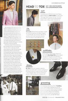 Groomswear Picks in Toni and Guy Magazine