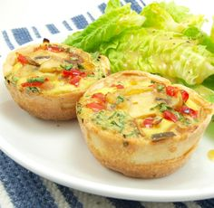 Mini-Veggie Quiche with crust, made in cupcake pan- by EvilShenanigans