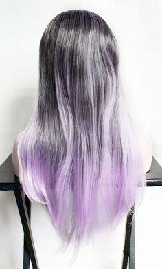 ea9b1ac8511a4 Ombre Purple Wig. Pastel Purple wig. Long Purple by MissVioletLace Purple  Wig, Pastel