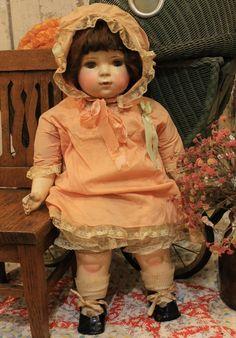 "22"" Amerian Char Compostion Cloth Old Antique Vintage Baby Doll Original Clothes | eBay"