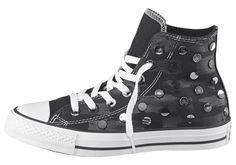 Produkttyp , Sneaker, |Schuhhöhe , Knöchelhoch (high), |Farbe , Schwarz-Silberfarben, |Herstellerfarbbezeichnung , Black, |Obermaterial , Textil, |Verschlussart , Schnürung, |Laufsohle , Gummi, profiliert, | ...