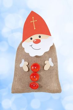 Nikolaus basteln Winter Christmas, Christmas Time, Christmas Crafts, Christmas Ornaments, St Nicholas Day, Kids And Parenting, Kids Toys, Diy And Crafts, Merry