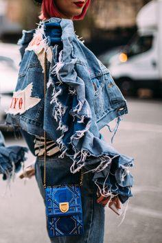 Denim On Denim - Flawless Street Style Snaps From Paris Fashion Week, Fall 2018 - Photos