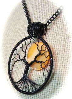 October's Full Moon Tree of Life OOAK by Mariesinspiredwire, $38.00