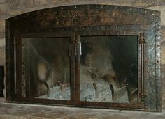 Forged fireplace doors