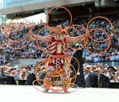 Native American Hoop Dance.  Dallas Arcand at the 2012 World Hoop Dance Championship in Phoenix.