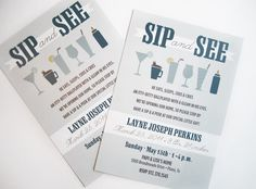 Boy sip & see invite