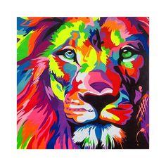 Awesome popart work by echeverri! Arte Pop, Pop Art, Lion Painting, Thai Art, Art Journal Techniques, Happy Paintings, Colorful Animals, Fractal Art, Amazing Art