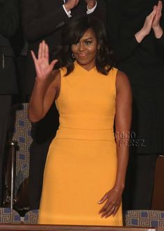Michelle Obama wears Narcisco Rodriguez to the final State of the Union address.
