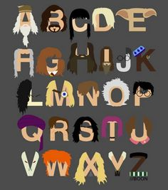 Albus, Black, Cho, Draco, Elf (Dobby the House-Elf), Filch, Granger, Hagrid, Igor, James, Kingsley, Lestrange, Mad-Eye Moody, Neville, Ollivander, Potter, Quirrell, Remus, Severus Snape, Tonks, Umbridge, Voldemort, Weasley, Xenophilius, Yaxley, Zabini...this is my life. Right here.