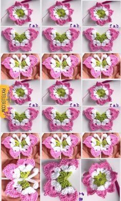 You will love these crochet butterfly as I do when you see it, they are so fabulous designed and smart enough to crochet a eight pointed flower and fold them into a butterfly. These crochet butterfly we are going to share…Read Crochet Butterfly Video - Crochet Butterfly Free Pattern, Crochet Flower Patterns, Crochet Blanket Patterns, Crochet Motif, Crochet Designs, Crochet Flowers, Crochet Stitches, Knitting Patterns, Crochet Crafts