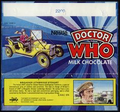 UK - Nestle - Doctor Who milk chocolate candy bar wrapper - Brigadier - 1975 by JasonLiebig, via Flickr
