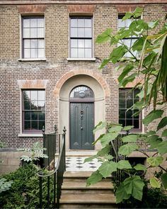 Clandon Park, Tudor House, Georgian Homes, World Of Interiors, Brickwork, House Painting, Garden Inspiration, Townhouse, Entrance