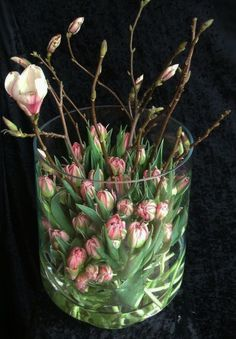 Delicate spring decoration with tulips for fresh interior design - . - Delicate spring decoration with tulips for fresh interior design – # Spri - Arte Floral, Deco Floral, Floral Design, Ikebana, Fresh Flowers, Spring Flowers, Beautiful Flowers, Flowers Vase, Centerpiece Flowers