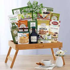 Classic Winter Breakfast in Bed Gift Basket - delivery to USA Coffee Gift Baskets, Wine Country Gift Baskets, Gourmet Gift Baskets, Gourmet Gifts, Coffee Gifts, Tea Gifts, Good Morning Breakfast, Breakfast Tray, Chocolate Hazelnut Cookies