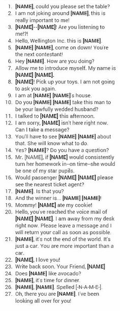I really like this idea for figuring out what baby name to chose and how it will sound in everyday situations!