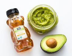 Use honey and avocado to DIY a natural face mask.