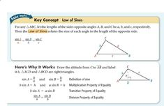 Properties Of Equality Law Of Sines Opposites Equality
