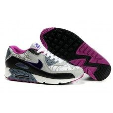 Femme Nike Air Max 90 Blanc/Gris/Violet