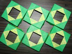Trabalho de composição com módulos em Origami