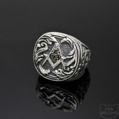 Sterling Silver Masonic Ring