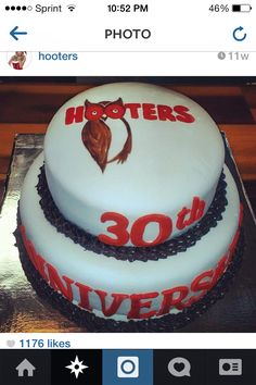 Fondant Cake for Hooters www.facebook.com/sidewaysconfections