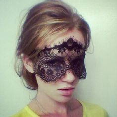 Dramatic Black Lace Face Mask or Headband Perfect von MSaHeadbands, $25.00