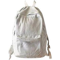 White Pocket Front Back To School Denim Backpack (595.070 IDR) ❤ liked on Polyvore featuring bags, backpacks, accessories, accessories - bags, denim rucksack, white bag, zipper bag, knapsack bag and zip backpack