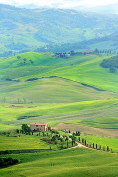 Paisagem da regiao da Toscana. Montepulciano, na provincia de Siena, Italia.