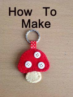 Love this mushroom key chain