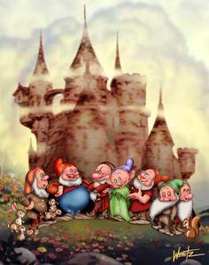 7 Dwarfs ala Tenggren by snowsowhite on DeviantArt