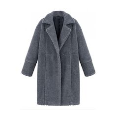Notched Lapel Plain Double Breasted Long Wool Coat ($58) ❤ liked on Polyvore featuring outerwear, coats, double-breasted coat, double breasted wool coat, long wool coat, long coat and woolen coat