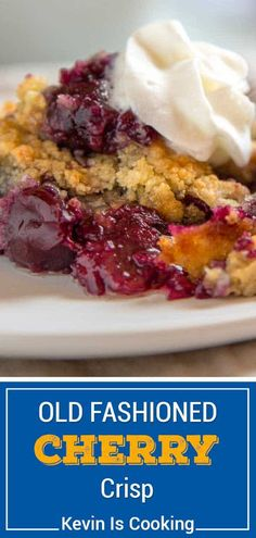 Thischerry crispuses simple ingredients to create a delicious dessert. Make this recipe any time of year with fresh or frozen cherries. Easy Desserts, Delicious Desserts, Dessert Recipes, Cheesecake Recipes, Pie Recipes, Dessert Ideas, Cherry Recipes, Cherry Desserts, Desert Recipes