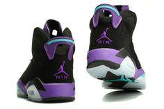1042543b39738 Women s Air Jordan 6 Retro GS Black Grape