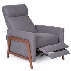 Wyatt Gray Push Back Recliner | Weekends Only Furniture and Mattress