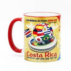 "Costa Rica, Futbol Soccer ""The Road To Russia 2018"" Souvenir Mug"