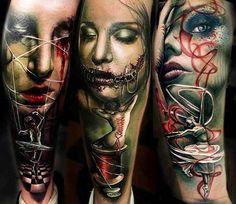 Realistic Horror Tattoo by Sam Barber Tattoo | Tattoo No. 13214