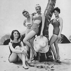 Paula Prentiss, Dolores Hart, Yvette Mimieux & Connie Francis. 1960.
